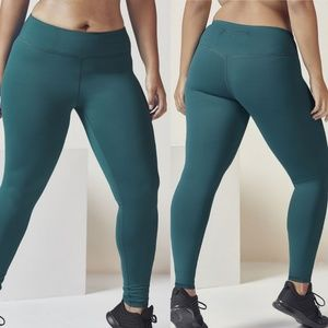 Fabletics | Mid-Rise Cold Weather Legging in Teal